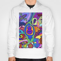 psychadelic Hoodies featuring Abstract 18 by Linda Tomei
