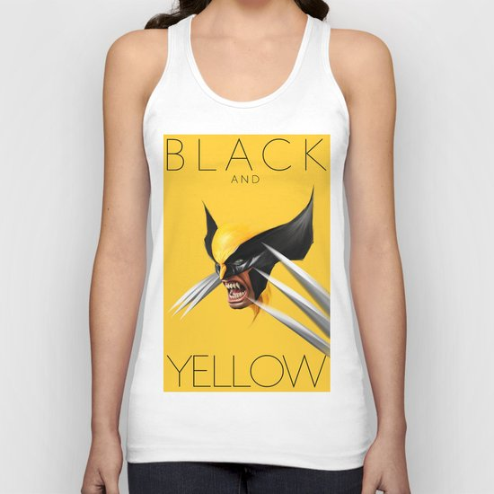 BLACK AND YELLOW Unisex Tank Top