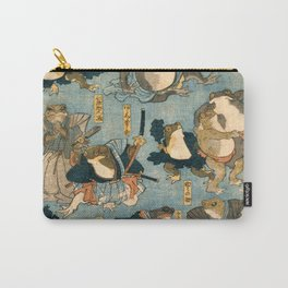 Ichiyusai Kuniyoshi Famous Heroes of the Kabuki Stage as Frogs Carry-All Pouch