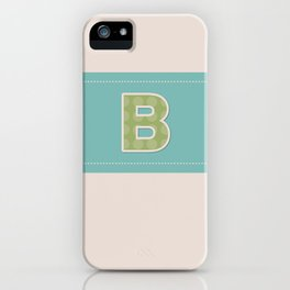 Letter B iPhone Case