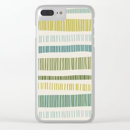 Yellow Stripes Clear iPhone Case