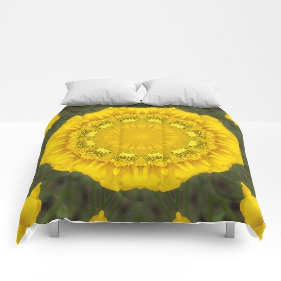 Yellow Flower Comforters