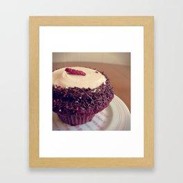 Strawberry Velvet Framed Art Print