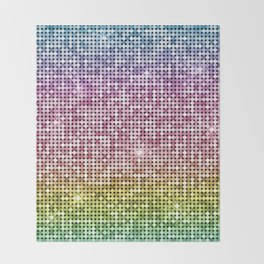 Shiny Disco Ball Rainbow Throw Blanket