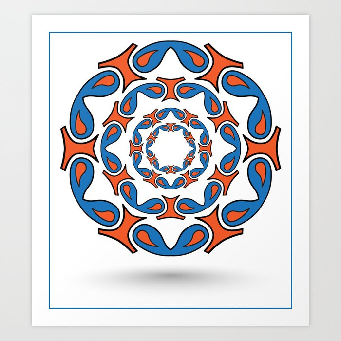 abstract mandala tribal Art Print