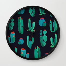 cactus pure green Wall Clock
