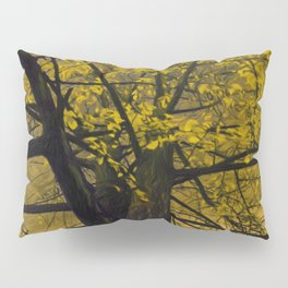 Fall Yellow Tree Painting Pillow Sham