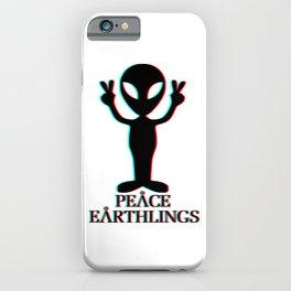 Peace Earthlings iPhone Case