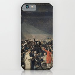 Jacques-Louis David - Serment du Jeu de paume, le 20 juin 1789 iPhone Case