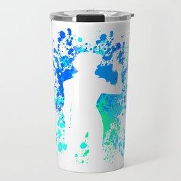 Anime Paint Splater Inspired Shirt Travel Mug