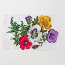 Colorful poppies Rug
