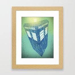 Type40 Doctor Who Calligram Framed Art Print