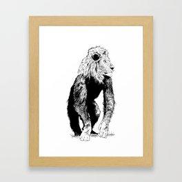 LionMonkey Chimera Framed Art Print