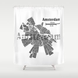 Amsterdam Map Shower Curtain