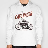 cafe racer Hoodies featuring Rise of the Cafe Racer II by RiseoftheCafeRacer