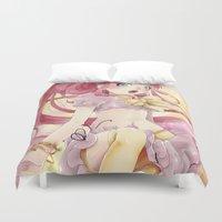 princess bubblegum Duvet Covers featuring Princess Bubblegum by Elisa Ellie Serio