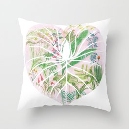 Monstera darlin' Throw Pillow