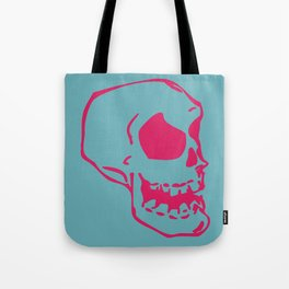 Pink Skull Tote Bag