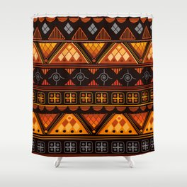 Bright Aztec Pattern Shower Curtain