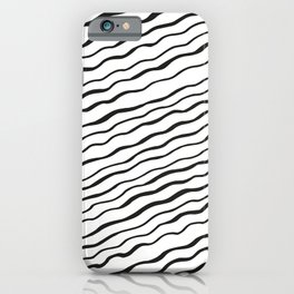 Mudcloth cross irregular organic stripes pattern iPhone Case