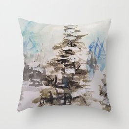 A Country Winter Throw Pillow