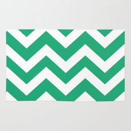 Green (Crayola) - green color - Zigzag Chevron Pattern Rug