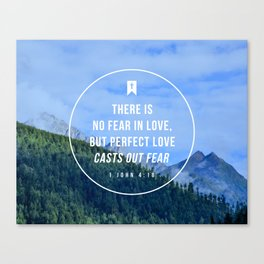 1 John 4:18 Canvas Print