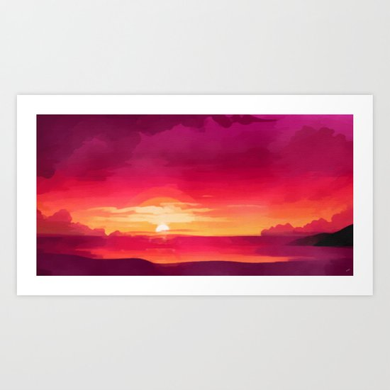 A Panoramic Sunset Art Print