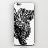 ornate iPhone & iPod Skins featuring Ornate Koala by BIOWORKZ