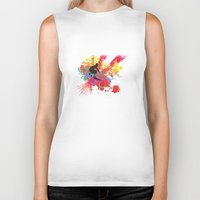 surfer Biker Tanks featuring Surfer by Allison Reich
