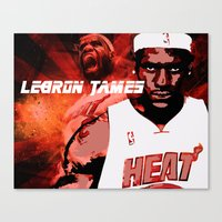 lebron Canvas Prints featuring Lebron James: #4 Hall of Fame Series by Sifa + Graphic Designer