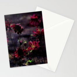 Mes ancolie - Aquilegia dark floral Stationery Cards