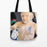 picasso Tote Bags featuring Picasso by Matthew Lake