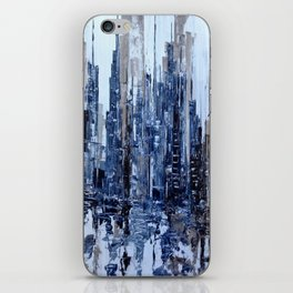 Dream in blue iPhone Skin