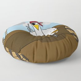 Eglantine la poule (the hen) disguised as a pirate. Floor Pillow