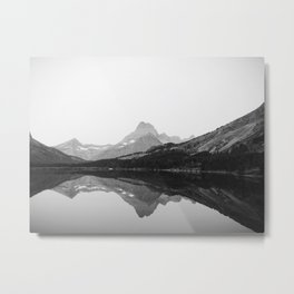 Swiftcurrent Lake, Glacier National Park Metal Print