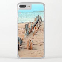 Wharf Remains on the Beach Clear iPhone Case