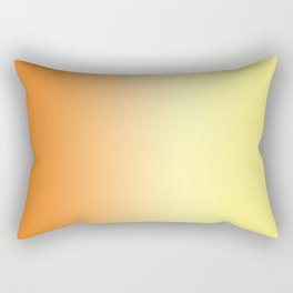Orange to Yellow Ombre Rectangular Pillow