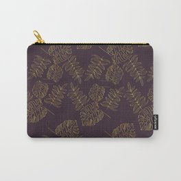 Golden leafs pattern Carry-All Pouch
