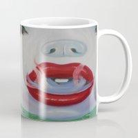 lipstick Mugs featuring Lipstick by Sahara Novotny