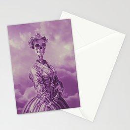 Lady Bonehead VINTAGE PURPLE / Skeleton portrait Stationery Cards