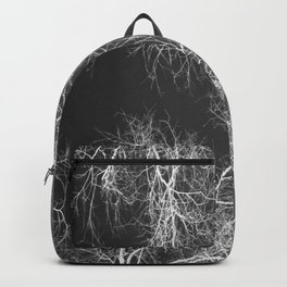 White silhouetted trees Backpack