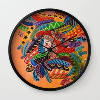 camo Wall Clocks featuring Camo by Adrienne S. Price