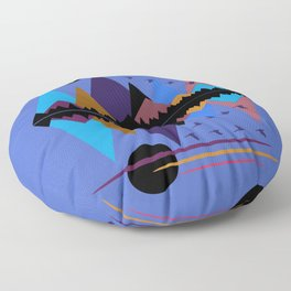 Geese On The Wing Floor Pillow