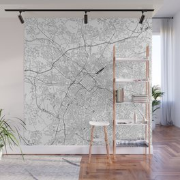 Charlotte White Map Wall Mural