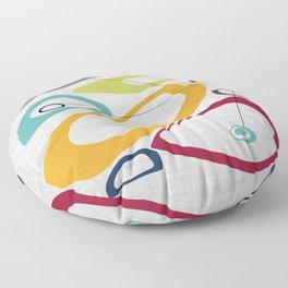 Mid Century Modern Art Floor Pillow