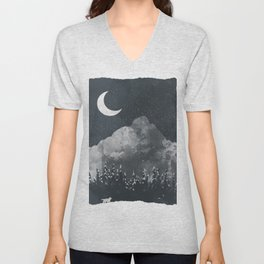 Winter Finds the Wolf... Unisex V-Neck