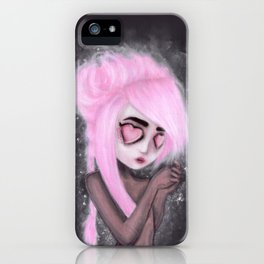 eyes and heart all empty iPhone Case