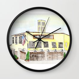 Black Dog Salvage Watercolor, Roanoke, Virginia Wall Clock