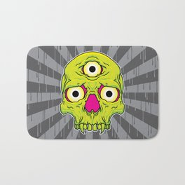 3 Eyed Jackass (green) Bath Mat